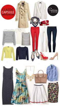 spring capsule wardrobe 2014 - everything in here is so me!