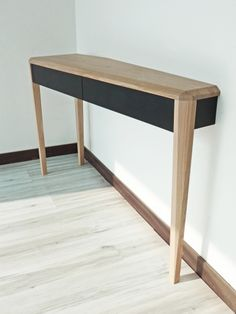 A DREUZ - Console 3 pieds - wood table Console, Wood Table, Entryway Tables, Furniture, Home Decor, Woodwind Instrument, Timber Table, Decoration Home, Room Decor