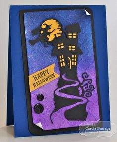 13 Dead End Drive Card by Carole Burrage #Halloween, #Cardmaking