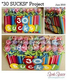 as centerpieces...with different lolly pops =)
