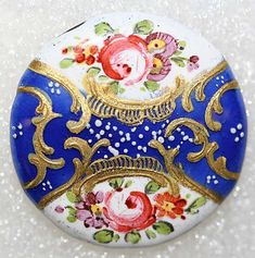 Button Date: ca. 1770 Culture: British Medium: enamel Dimensions: [no dimension available] Credit Line: From the Hanna S. Cool Buttons, Silver Buttons, Vintage Buttons, Button Art, Sewing A Button, Art Object, Vintage Sewing, Vintage Antiques, Objects