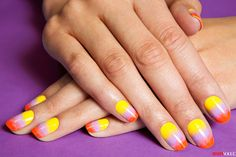 A Pretty Sunset Mani for Your DIYing Pleasure