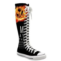 I found 'hunger games epic knee high converse' on ... | The Hunger ... found on Polyvore