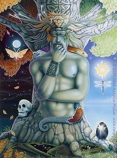 The Art | ravynnephelan Pagan Art, Love Tarot, Fantasy Kunst, Lord, Oracle Cards, Gods And Goddesses, Fantastic Art, Tree Art, Tarot Cards
