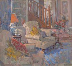 Susan Ryder RP NEAC (b.1944) — The Staircase (807x730)