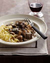 BEEF STROGANOFF - last time I made this I winged it. Might try this out, with the red wine and worcestershire...
