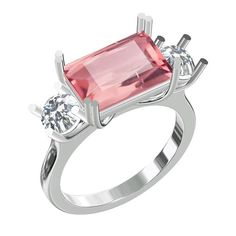 A gorgeous new custom design on its way 💕💕💕 via Morganite Ring, Jewelry Stores, Pretty In Pink, Custom Design, Diamonds, White Gold, Engagement Rings, Jewels, Jewellery