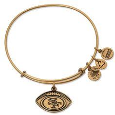Alex and Ani San Francisco 49ers Ladies Football Logo Rafaelian Gold Finish Bracelet