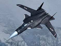 """Soukhoï is a Russian fighter aircraft It is called the Berkut """"golden eagle"""" . The main feature that makes it instantly recognizable,. Airplane Fighter, Fighter Aircraft, Russian Fighter Jets, Russian Military Aircraft, Flying Vehicles, Air Fighter, Experimental Aircraft, Sukhoi, Military Jets"""