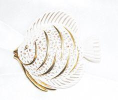 Signed Monet Enameled Fish by LustfulJewels on Etsy