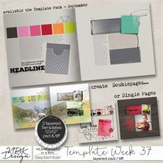 September {Template 37) NBK Design | 11/09 - New Release :: Memory Scraps