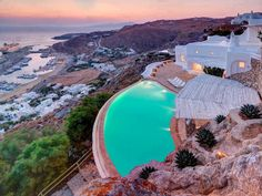 Cliffside View in Greece.
