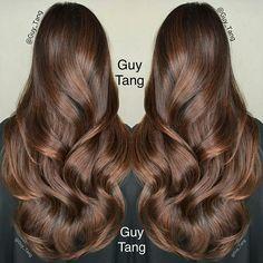 Guy tang hair brunette hair