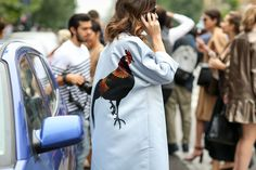 Something to crow about. #refinery29 http://www.refinery29.com/2014/09/74945/milan-fashion-week-2014-street-style#slide-48