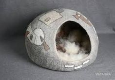 Bilderesultat for gefilzte katzenhöhle