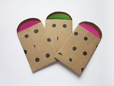 'Adhesive Polka Dot Mini-Envelopes w/Neon (10ct)' is going up for auction at  3pm Sun, Sep 22 with a starting bid of $1.