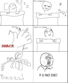 Rage Comics - Annoying Mosquito Rage - www.funny-pictures-blog.com
