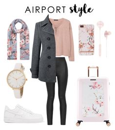 """""""Traveling..."""" by giachrysa ❤ liked on Polyvore featuring Armani Jeans, MANGO, Lands' End, NIKE, Ted Baker, Accessorize and i.am+"""