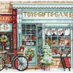 Gold Collection Petite Toy Shoppe Counted Cross Stitch Kit | Overstock.com Shopping - Big Discounts on Dimensions Cross Stitch Kits