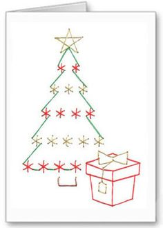 Free Paper Stitching Cards Patterns | Christmas stitching card pattern | greetings cards to stitch