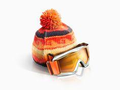 Winter ski gear, illustration