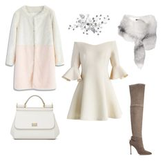 White by ma-ri-i on Polyvore featuring мода, Chicwish, Pour La Victoire and Dolce&Gabbana
