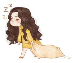 Need sleep right now 😴😴 Sleep Cartoon, Girl Cartoon, Cartoon Kunst, Cartoon Art, Disney Kunst, Disney Art, Art And Illustration, Base Anime, Sleeping Drawing