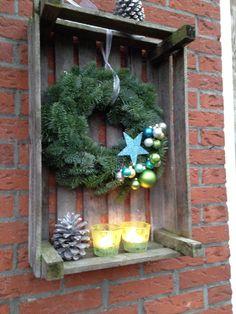 Kerstkrans voor buiten