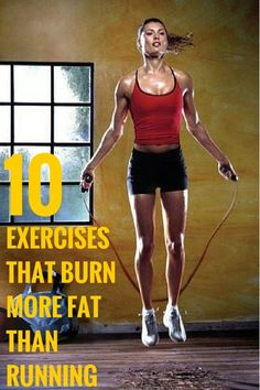 Exercises that burn more fat than running.