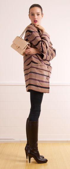 Missoni Striped Single Breasted Coat