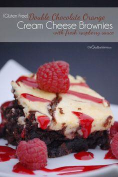 Best Ever Gluten Free Brownie Recipe {Chocolate Orange Cream Cheese!}