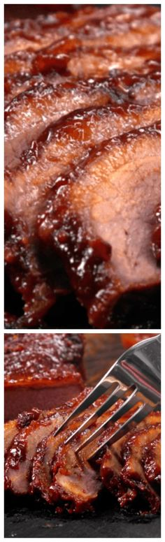 Oven-Barbecued Beef Brisket ~ So tender and delicious