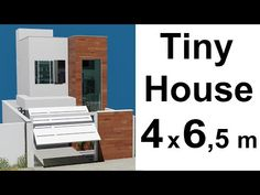 Tiny house, or mini Sobrado, a low cost construction due to its size, occupies little space on the ground, but has integrated spaces. Duplex House, Loft House, Tiny House, Architect House, Architect Design, Small House Design, Modern House Design, Mini House Plans, Apartment Plans