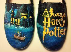 Harry Potter Custom Shoes I solemnly swear by simskicks on Etsy, $60.00