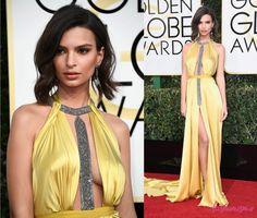 Golden Globes 2017: Emily Ratajkowsky - Fashionismo