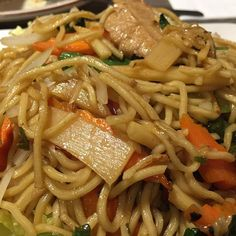 Spicy chow mein noodles with soy chikn...because it's 2016 and there are tons of options that aren't living beings with families. And this shit is delicious.  Yummery - best recipes. Follow Us! #veganfoodporn