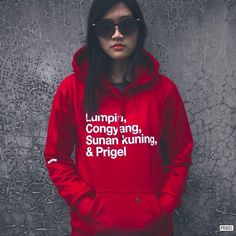 Pullover Hoodie red by PRIGEL #indonesia #model #photography #women #men #fashion