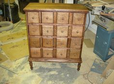 16 Drawer Apothecary Cabinet
