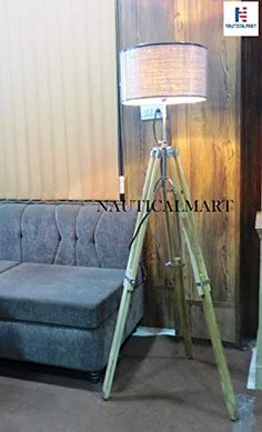 Decor, Tripod Lamp, Lamp, Timber, Searchlight, Home Decor, Wooden