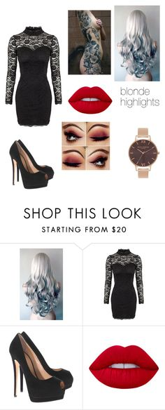 """artemis - funeral"" by lynx-lupus ❤ liked on Polyvore featuring Oneness, Giuseppe Zanotti, Lime Crime and Olivia Burton"