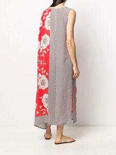 P.A.R.O.S.H. Draped floral-print Dress - Farfetch Red Silk, Size Clothing, Floral Prints, Women Wear, Boutique, Fashion Design, Clothes, Shopping, Dresses