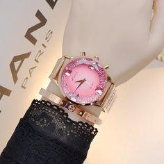 Wristwatches Quartz-Watches High-Grade Women's Watches Rose Gold Stainless Steel Strap Luxury Big Dial Color Optional Armbanduhren Quarzuhren Hochwertige Damenuhren Roségold-Edelstahlarmband … Stylish Watches, Luxury Watches, Women's Watches, Gold Fashion, Trendy Fashion, Rose Gold Watches, Quartz Watches, Fashion Accessories, Fashion Jewelry