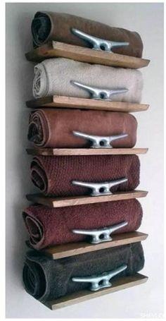20 Really Inspiring DIY Towel Storage Ideas For Every Small Bathroom - Diy - Bathroom Towel