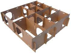 cardboard maze from bunny site....