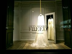 Bridal window display promoting Fifty Shades Freed in Paris