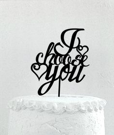 I choose you wedding cake topper от CakeTopperDesign на Etsy