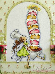 Tall Cakes, Mo Manning, Copic Art, Pastry Art, Happy Birthday Images, Penny Black, Kids Cards, Caricature, Stamp