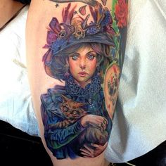 Realism effects in tattoos for Cat lady tattoo