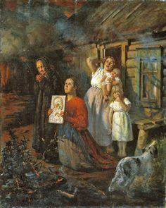 Fyodor Buchholz: Fire in the Village (1901)