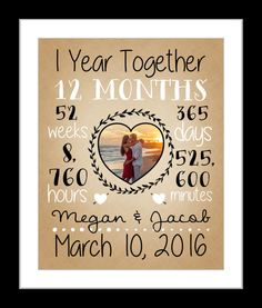 First Anniversary Together Dating 1st Friend One Year Husband And Wife Met 1 Gift For Boyfriend